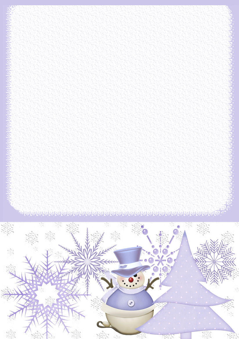 Winter 1 A4 Theme Free Digital Stationery