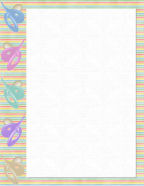 Revered image within free printable baby borders for paper