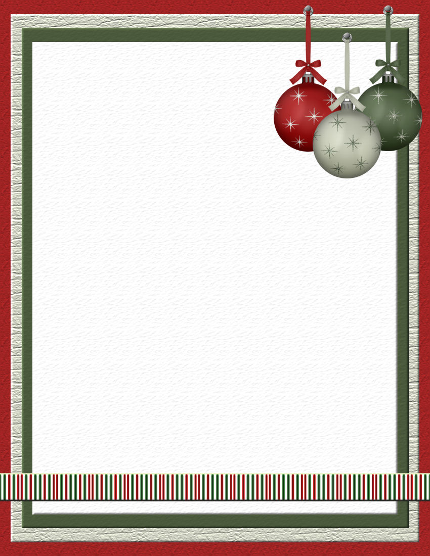 holiday stationery template