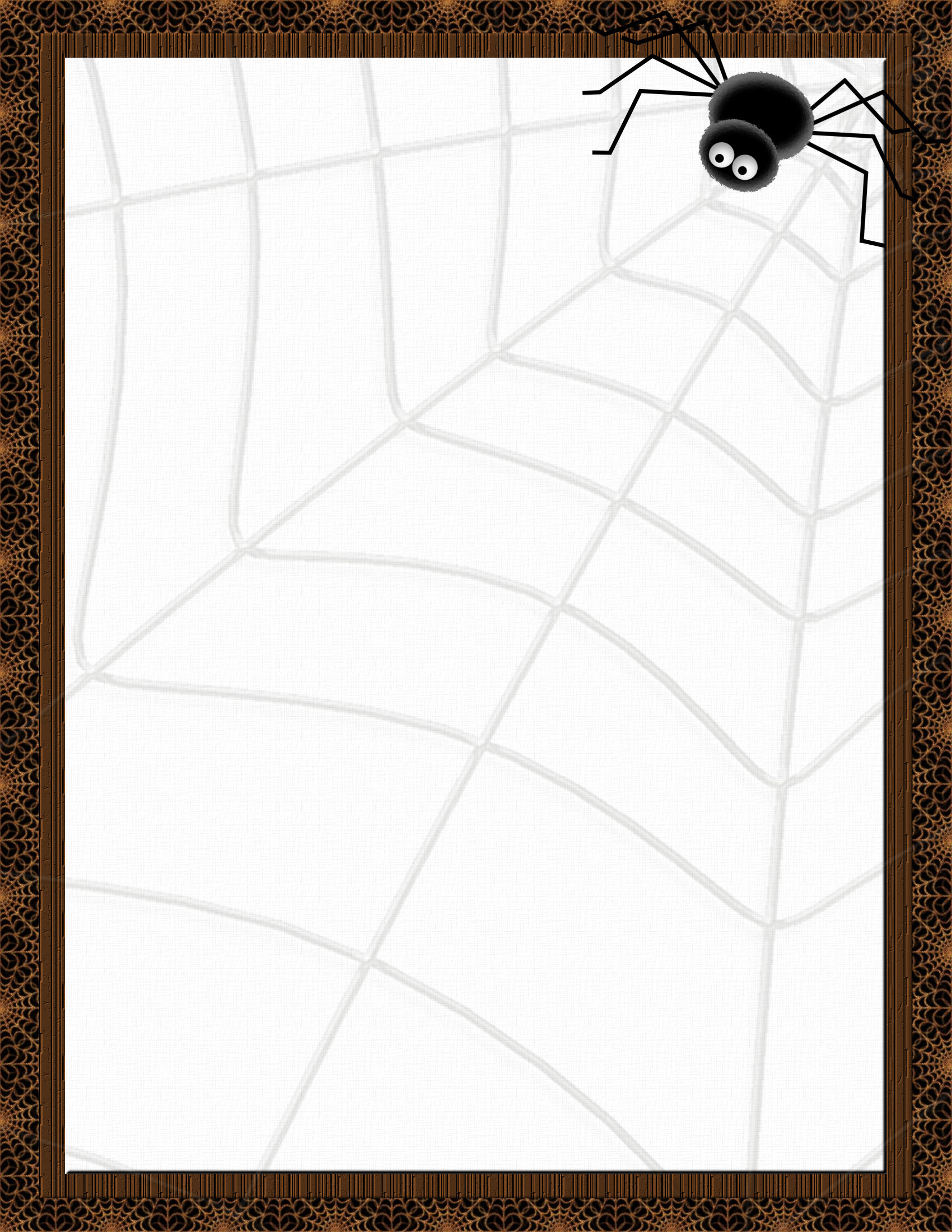 It is an image of Striking Halloween Stationery Printable