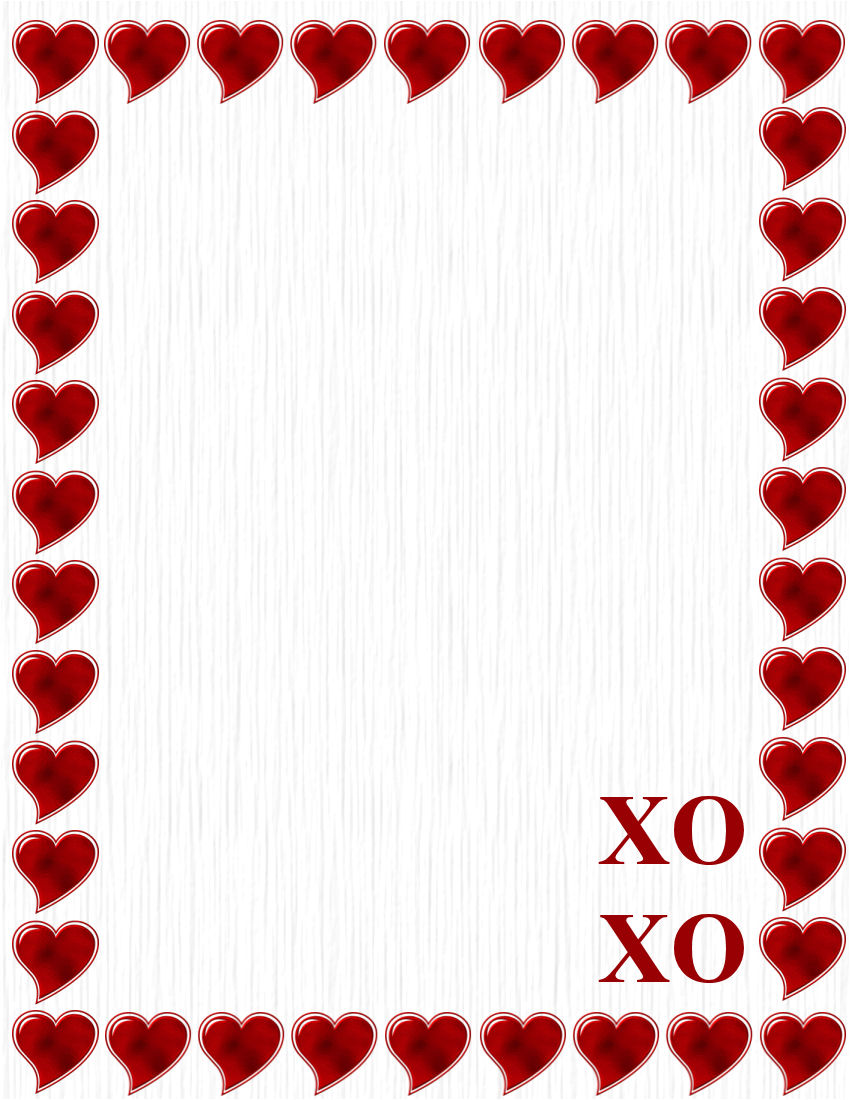 valentines day stationery theme page 2